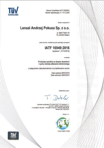 System Zarządzania Jakością IATF 16949:2016